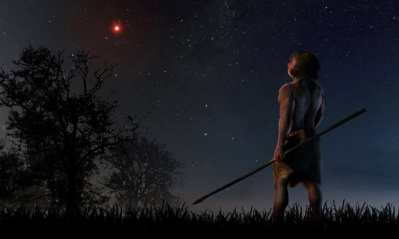 Evidence that a star disturbed prehistory solar system comets