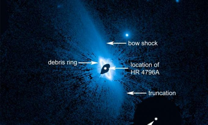 Hubble finds huge system of dusty material enveloping the young star HR 4796A