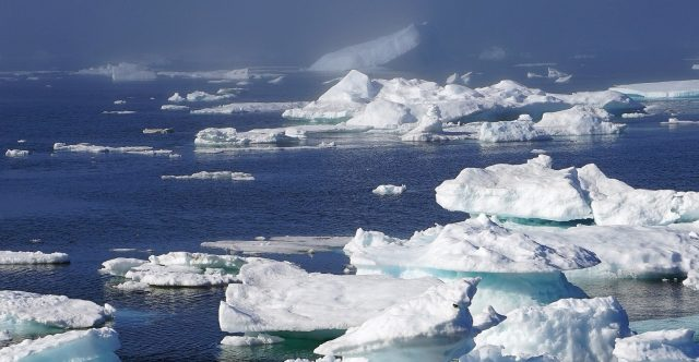 Wind sea ice patterns point to climate change in western Arctic