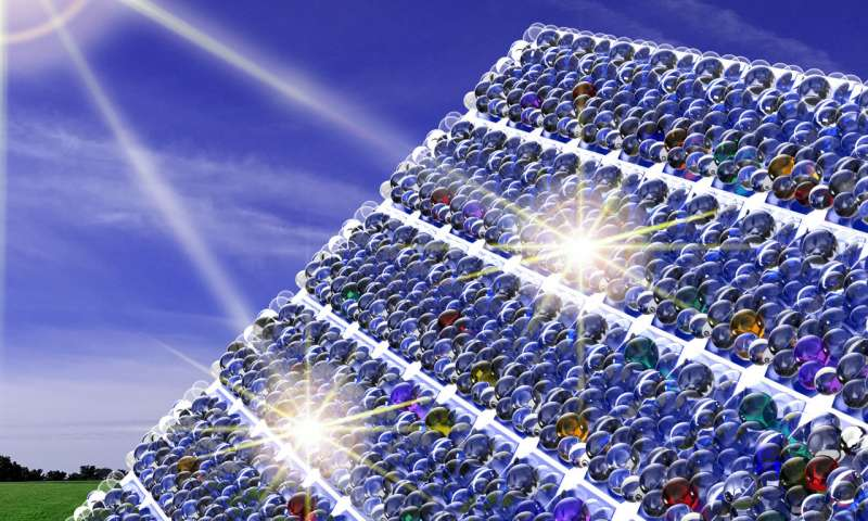 Psst A whispering gallery for light boosts solar cells