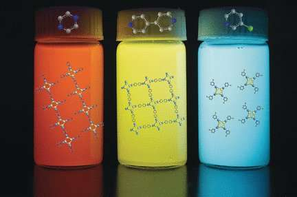 Highly luminescent inks made from copper iodine hybrid clusters with aggregation induced emission