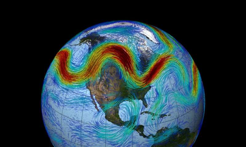 New theory finds traffic jams in jet stream cause abnormal weather patterns