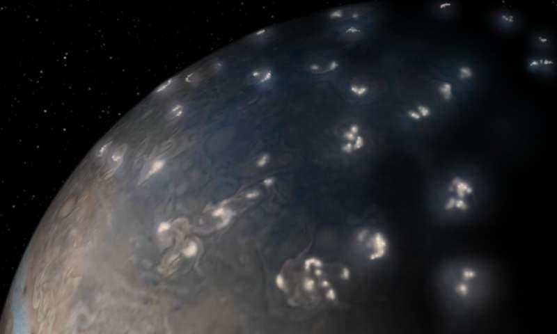 Juno solves 39 year old mystery of Jupiter lightning