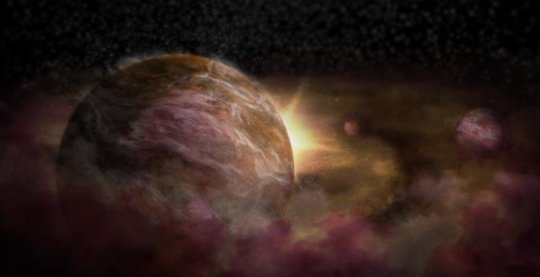 Trio of infant planets discovered around newborn star