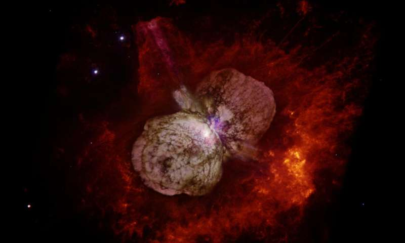 NuSTAR mission proves superstar Eta Carinae shoots cosmic rays