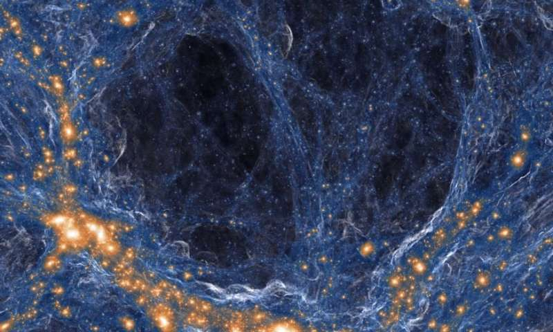 In a massive region of space astronomers find far fewer galaxies than they expected