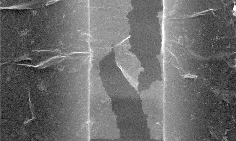 Nanotube rebar makes graphene twice as tough
