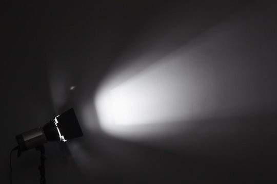 The spotlight of attention is more like a strobe light