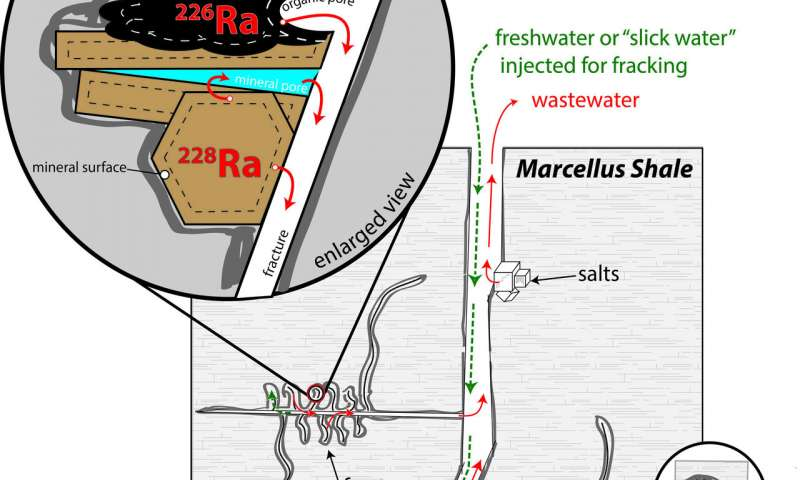 How slick water and black shale in fracking combine to produce radioactive waste