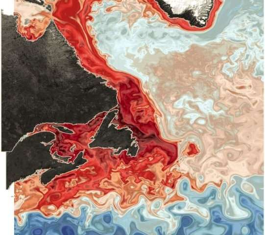 Large scale shift causing lower oxygen water to invade Canadas Gulf of St. Lawrence