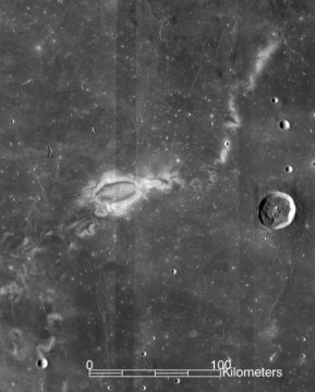 Mysterious lunar swirls point to moons volcanic magnetic past