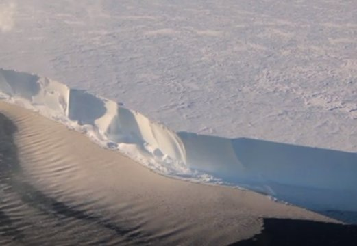 Antarctic ice shelf sings as winds whip across its surface