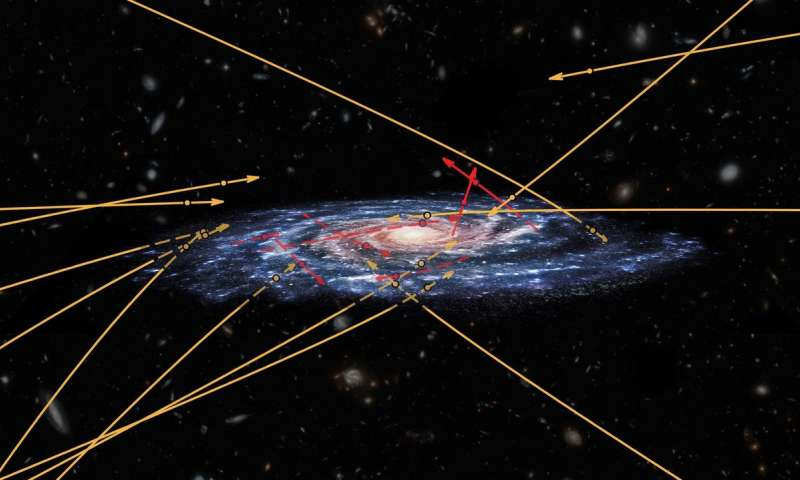 Gaia spots stars flying between galaxies