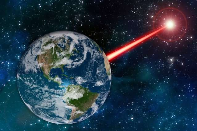 Existing laser technology could be fashioned into Earths porch light to attract alien astronomers