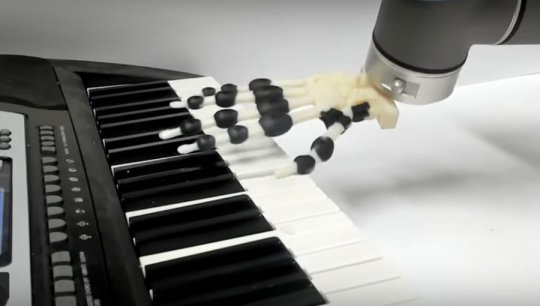 3D printed robot hand plays the piano