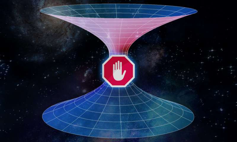 Scientists dismiss the idea of travel through wormholes