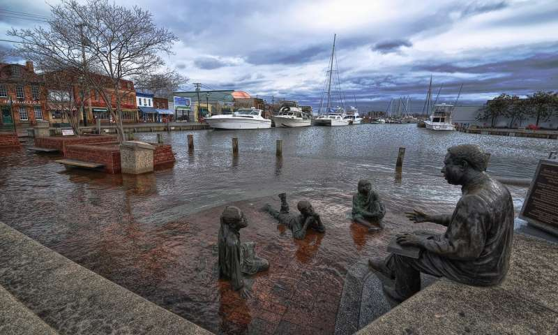 Why is sea level rising faster in some places along the US East Coast than others