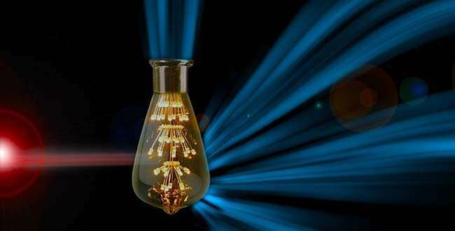 Novel material converts infrared light into visible light