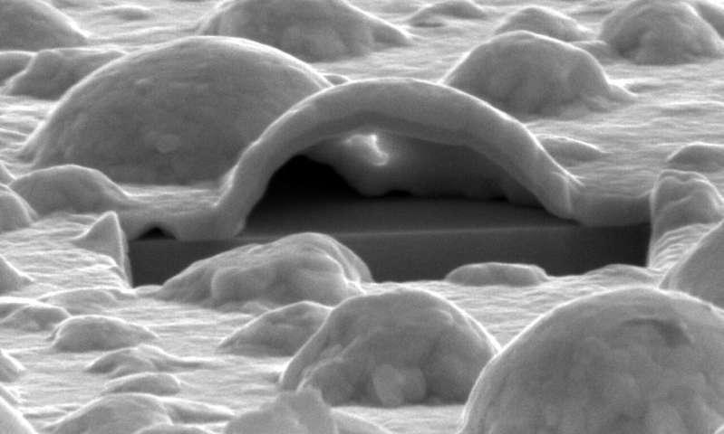 Platinum forms nano bubbles