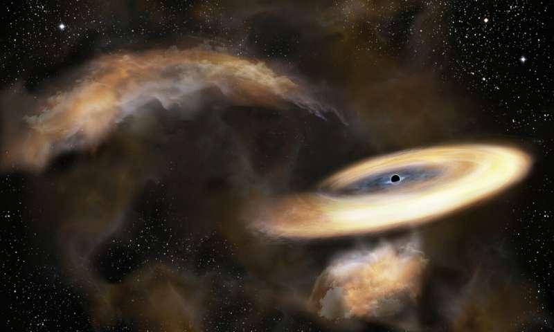 Hiding black hole found