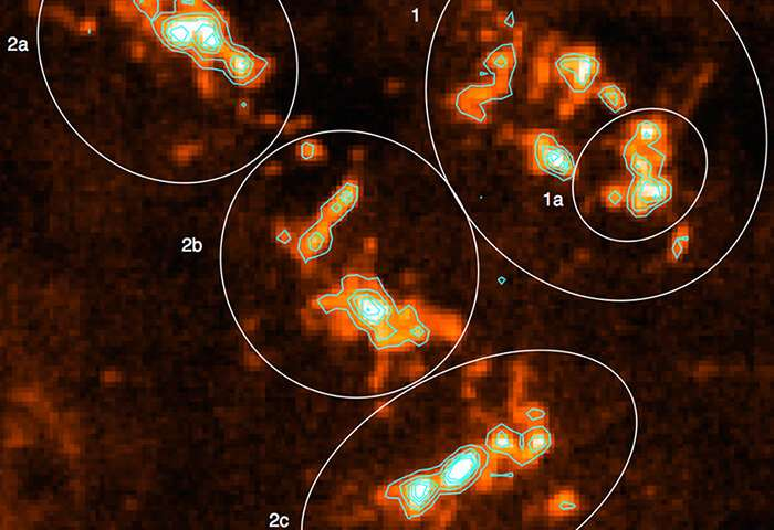 Astronomers take first high resolution look at huge star forming region of Milky Way 1