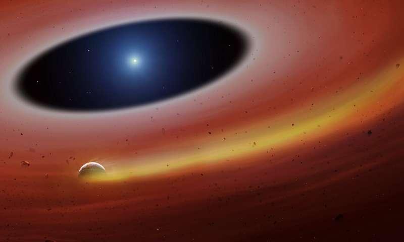 Heavy metal planet fragment survives destruction from dead star