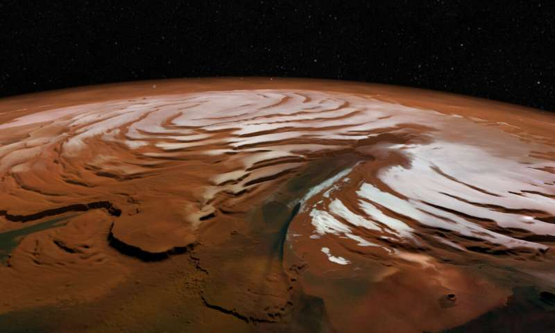 Massive Martian ice discovery opens a window into red planets history