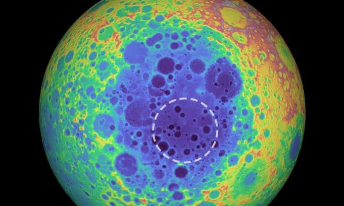 Mass anomaly detected under the moons largest crater