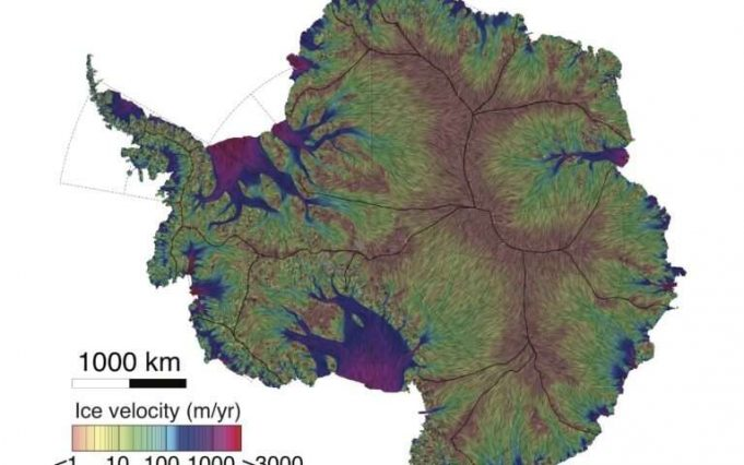Glaciologists unveil most precise map ever of Antarctic ice velocity