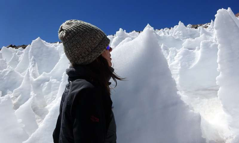 Snow algae thrive in high elevation ice spires an unlikely oasis for life