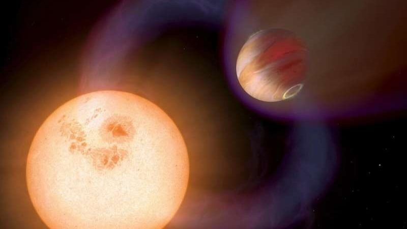cropped Astronomers make first calculations of magnetic activity in hot Jupiter exoplanets