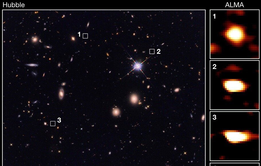 Astronomers discover vast ancient galaxies which could shed light on dark matter 1