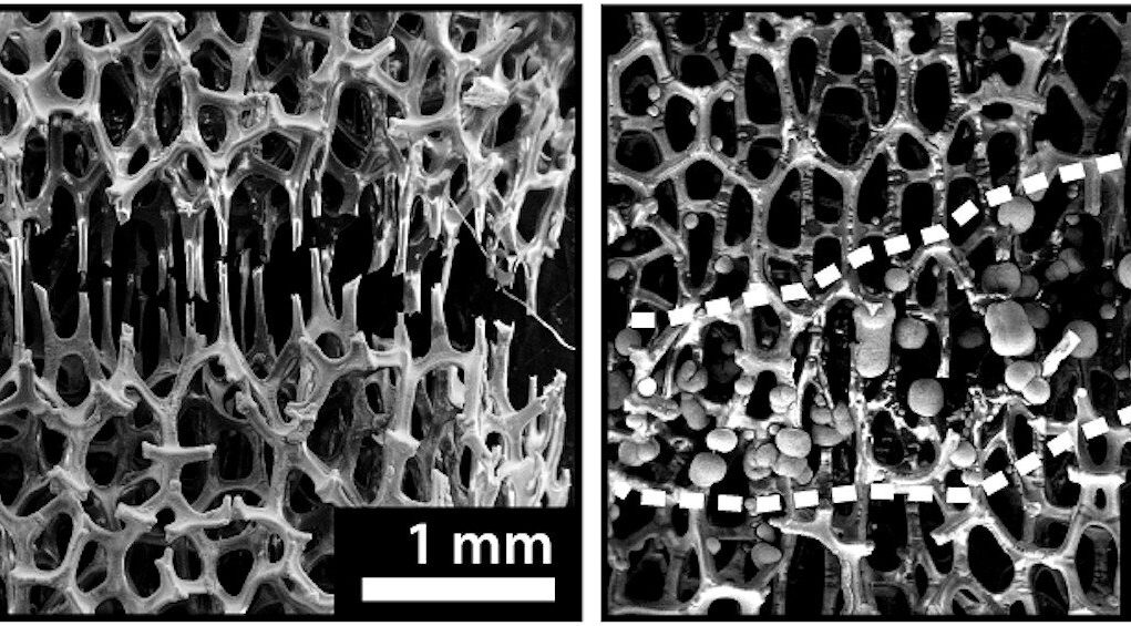 Engineers develop bone like metal foam that can be healed at room temperature