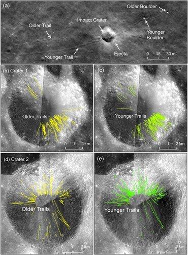 Moonquakes tumble boulders build lunar scarps