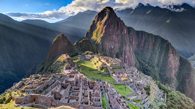 cropped Machu Picchu Ancient Incan sanctuary intentionally built on faults