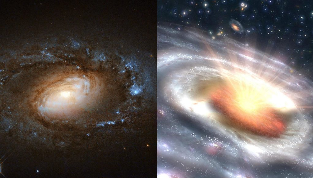 cropped Study captures six galaxies undergoing sudden dramatic transitions