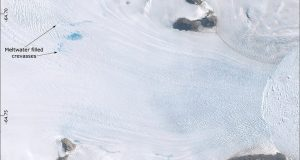 cropped Surface melting causes Antarctic glaciers to slip faster towards the ocean new research shows