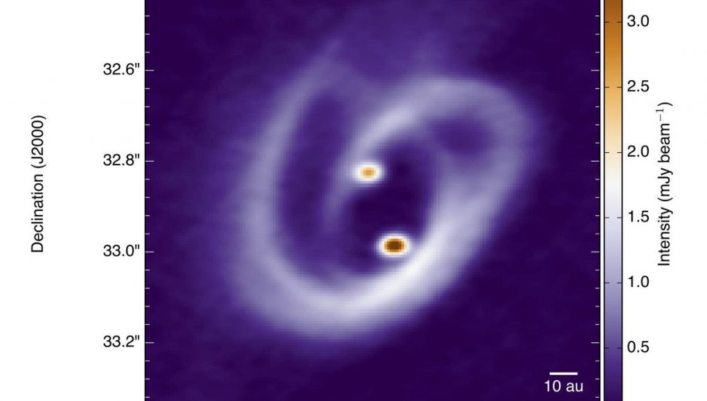 cropped Astronomers observe how two suns collect matter in a binary system 1