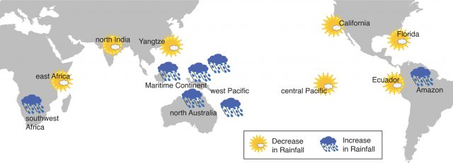 Indo Pacific Ocean warming is changing global rainfall patterns