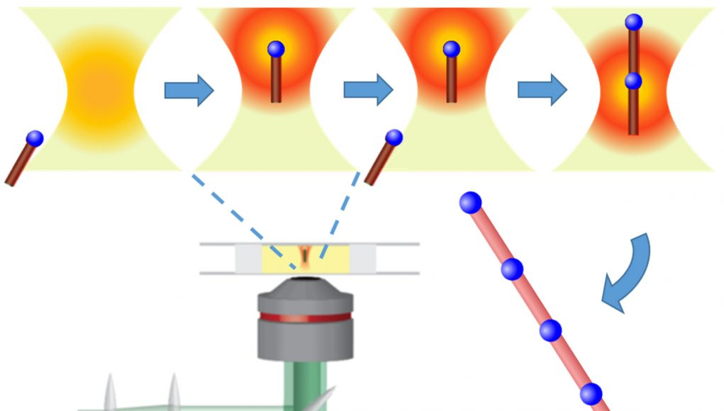 Light based 'tractor beam' assembles materials at the nanoscale 1