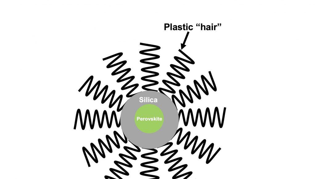 Armored with plastic hair and silica new perovskite nanocrystals show more durability