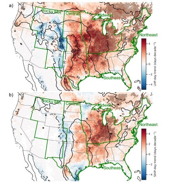 Favorable environments for large hail increasing across U.S. 1