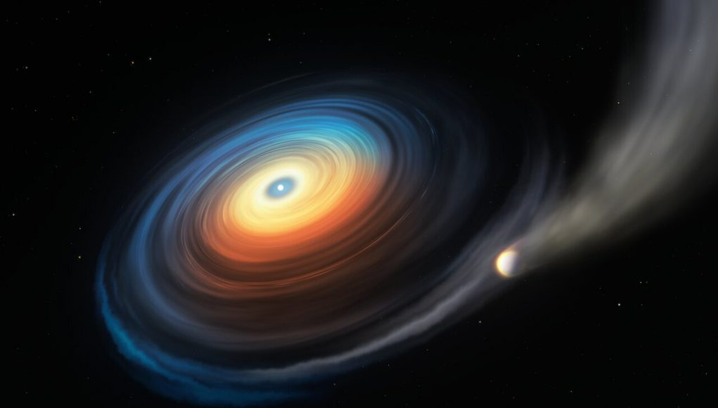 First giant planet around white dwarf found