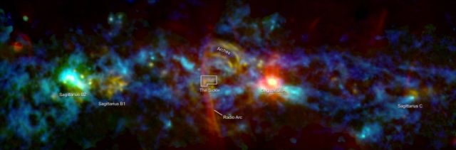 NASA maps inner Milky Way sees cosmic candy cane