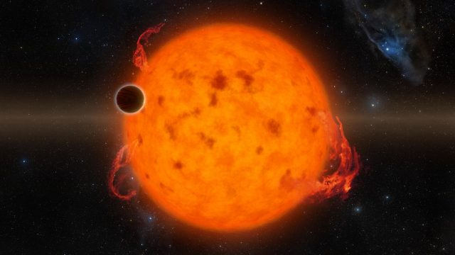 Researchers discover exoplanets can be made less habitable by stars flares scaled