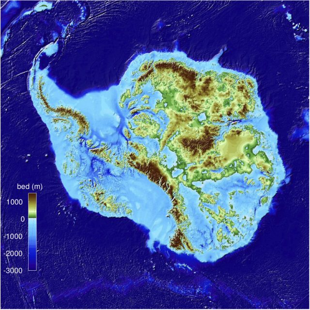 Team releases high precision map of Antarctic ice sheet bed topography