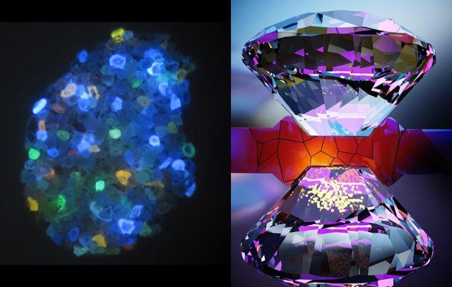 Tiny quantum sensors watch materials transform under pressure