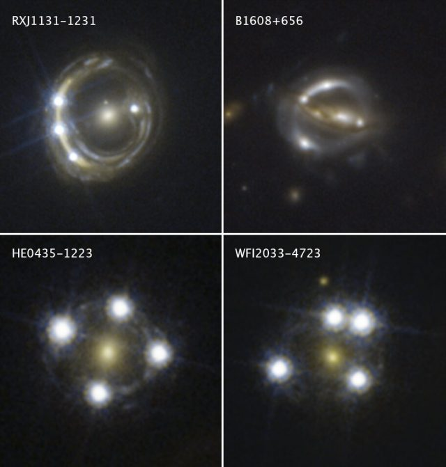 Cosmic magnifying glasses yield independent measure of universes expansion