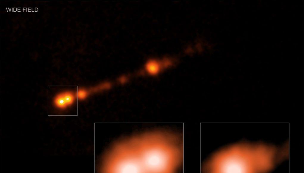 Famous black hole has jet pushing cosmic speed limit scaled