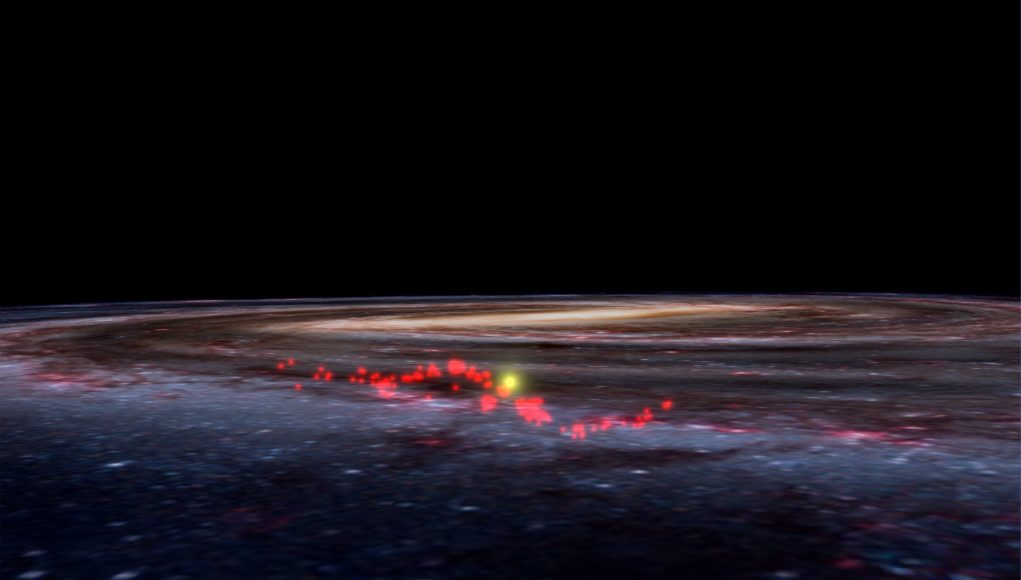 New map of Milky Way reveals giant wave of stellar nurseries scaled